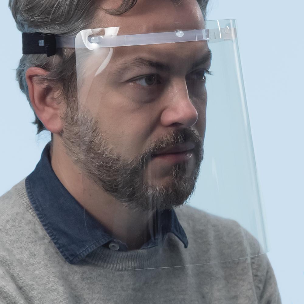 Arya Visiera protettiva in policarbonato trasparente Vision One (CE) - M/L