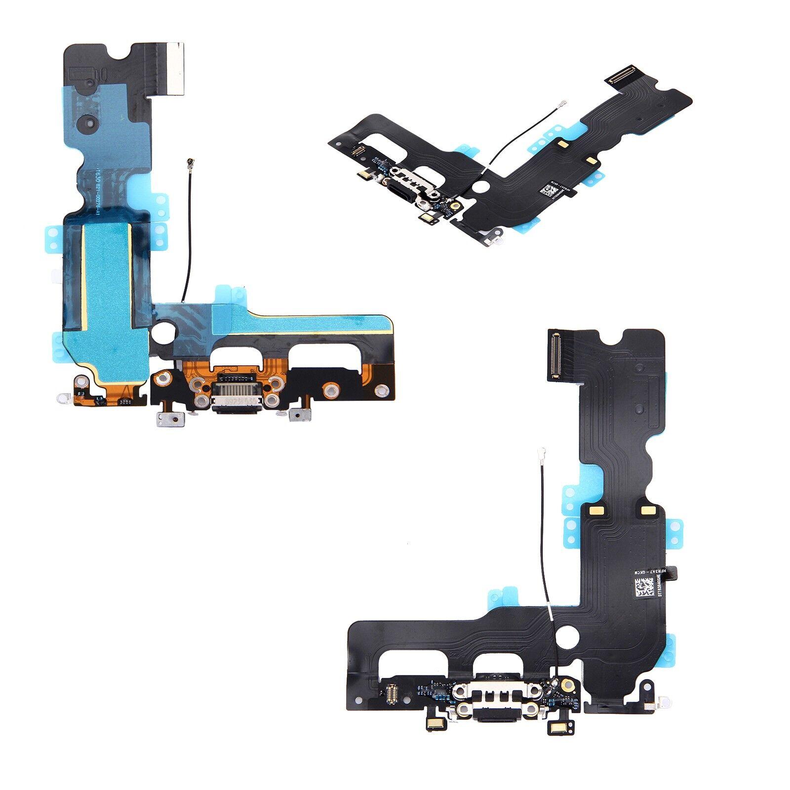 digital bay connettore carica dock ricarica microfono flex per iphone 7+ 7 plus nero
