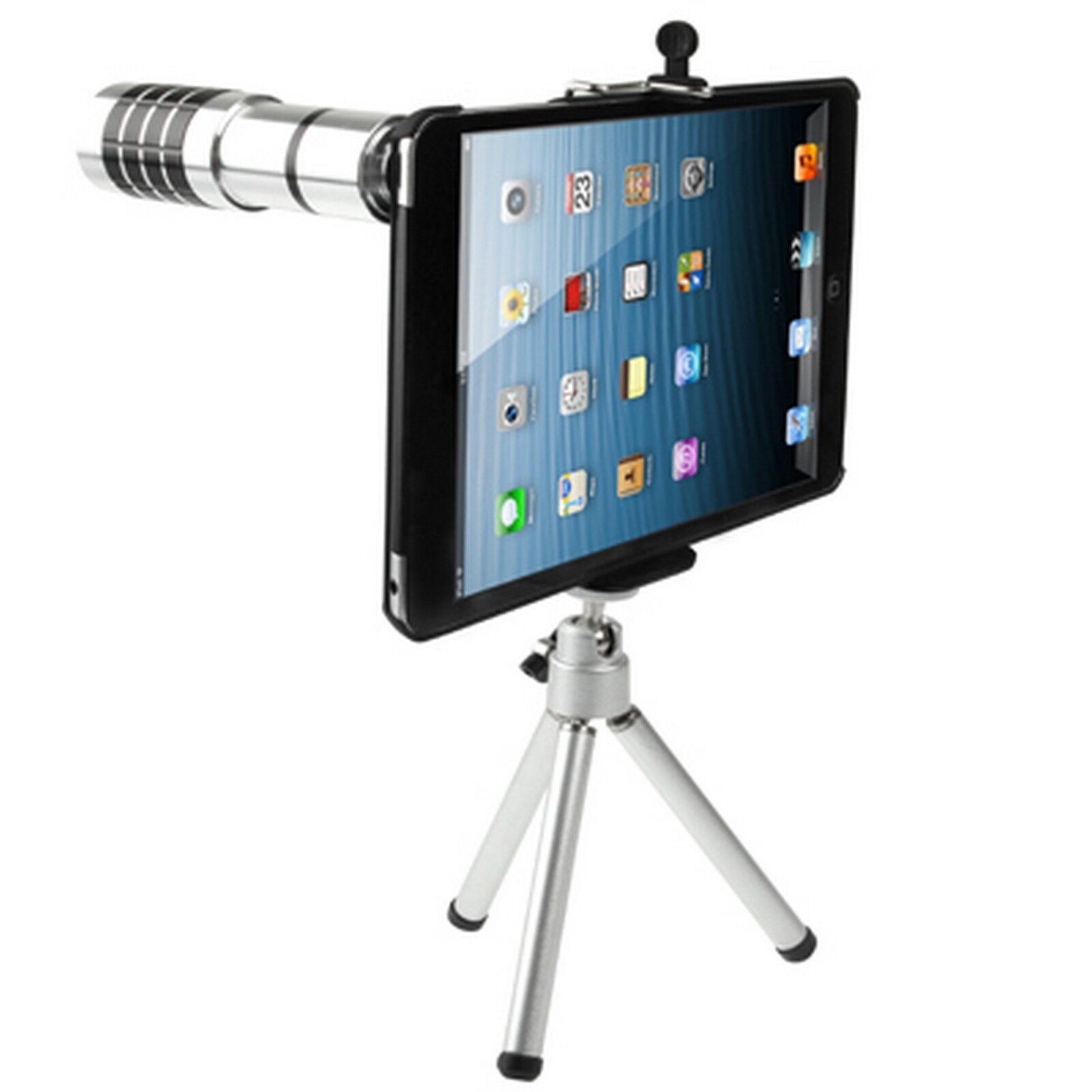 digital bay custodia cover telescopio 12x zoom ottico lente per ipad mini 2 / 3 / retina