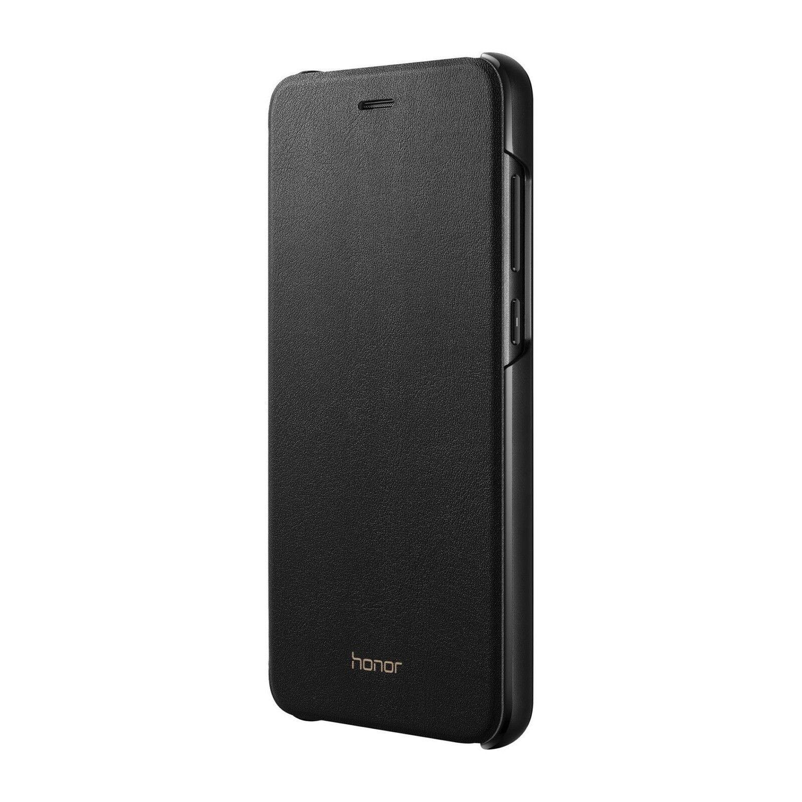 Huawei Custodia Flip Cover Case Nero Originale Honor 8 Lite PRA-AL00X Venduto Come Nuovo