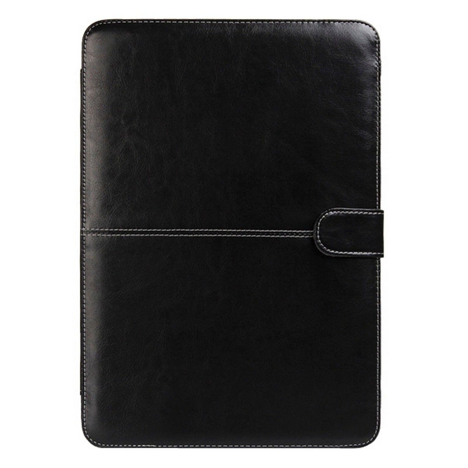 digital bay custodia cover nero elegante eco pelle per macbook pro 15.4 non retina