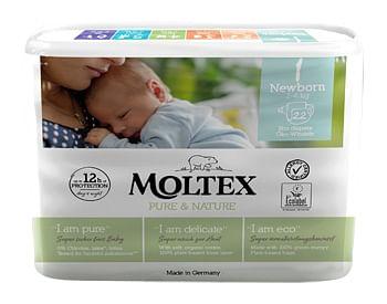 Ontex Pannolini Moltex Pure & Nature New Born 2 4 Kg Taglia 1 22 Pezzi