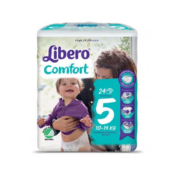 Essity Libero Comfort 5 Pannolino Bambino Taglia 10-14kg 24 Pezzi