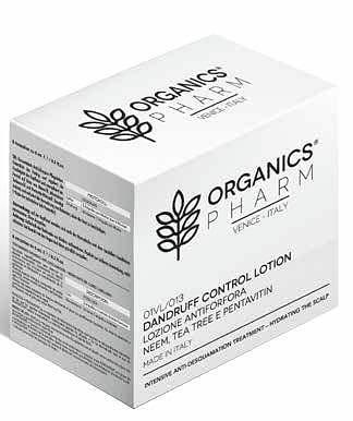 sma srl organics pharm dandruff control lotion neem oil, tea tree and pentavin 6 fiale da 6 ml