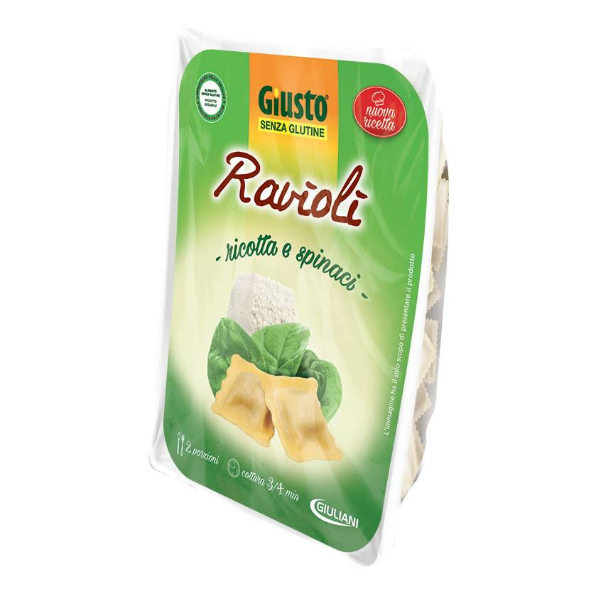 Giuliani Spa Giusto Senza Glutine Pasta Ravioli Ricotta Spinaci