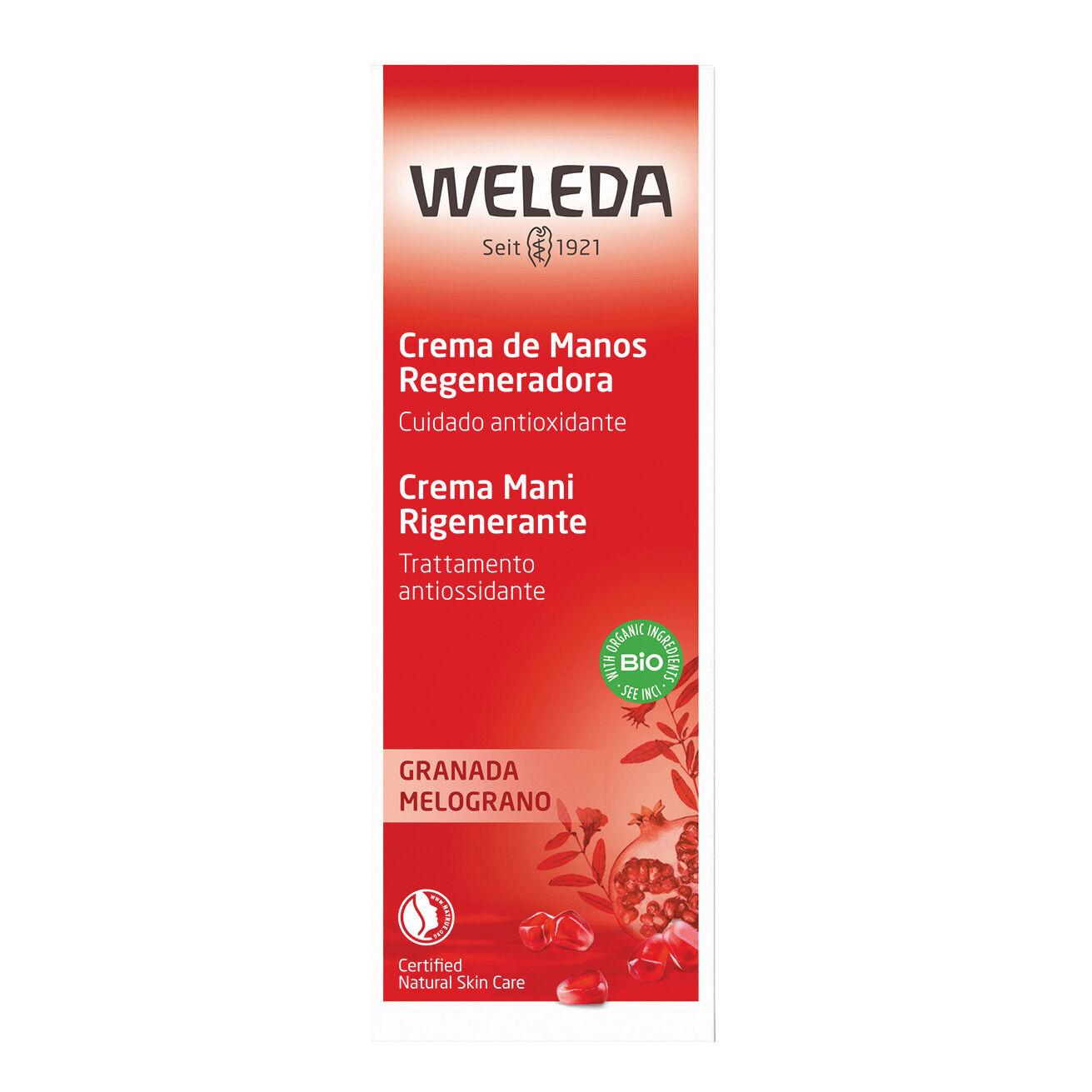 weleda crema mani rigenerante melograno 50ml
