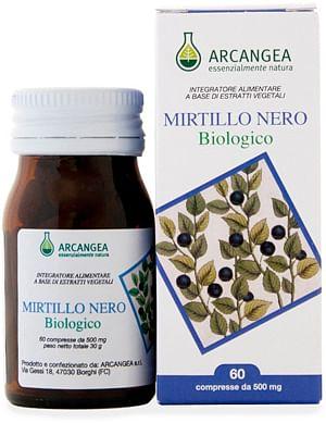 arcangea srl mirtillo nero biologico 60 compresse