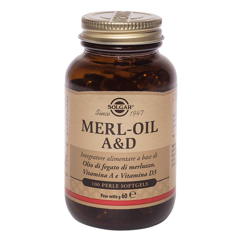 solgar it. multinutrient spa solgar merl - oil a & d 100 perle