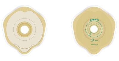 Braun Placca Convessa Flexima Key 60 Mm Per Sistema Due Pezzi Aggancio Aesivo Ritaglio 15/45 5 Pezzi