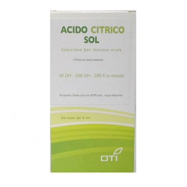 Oti Srl Acido Citrico Soluzione 20 Fiale Oti