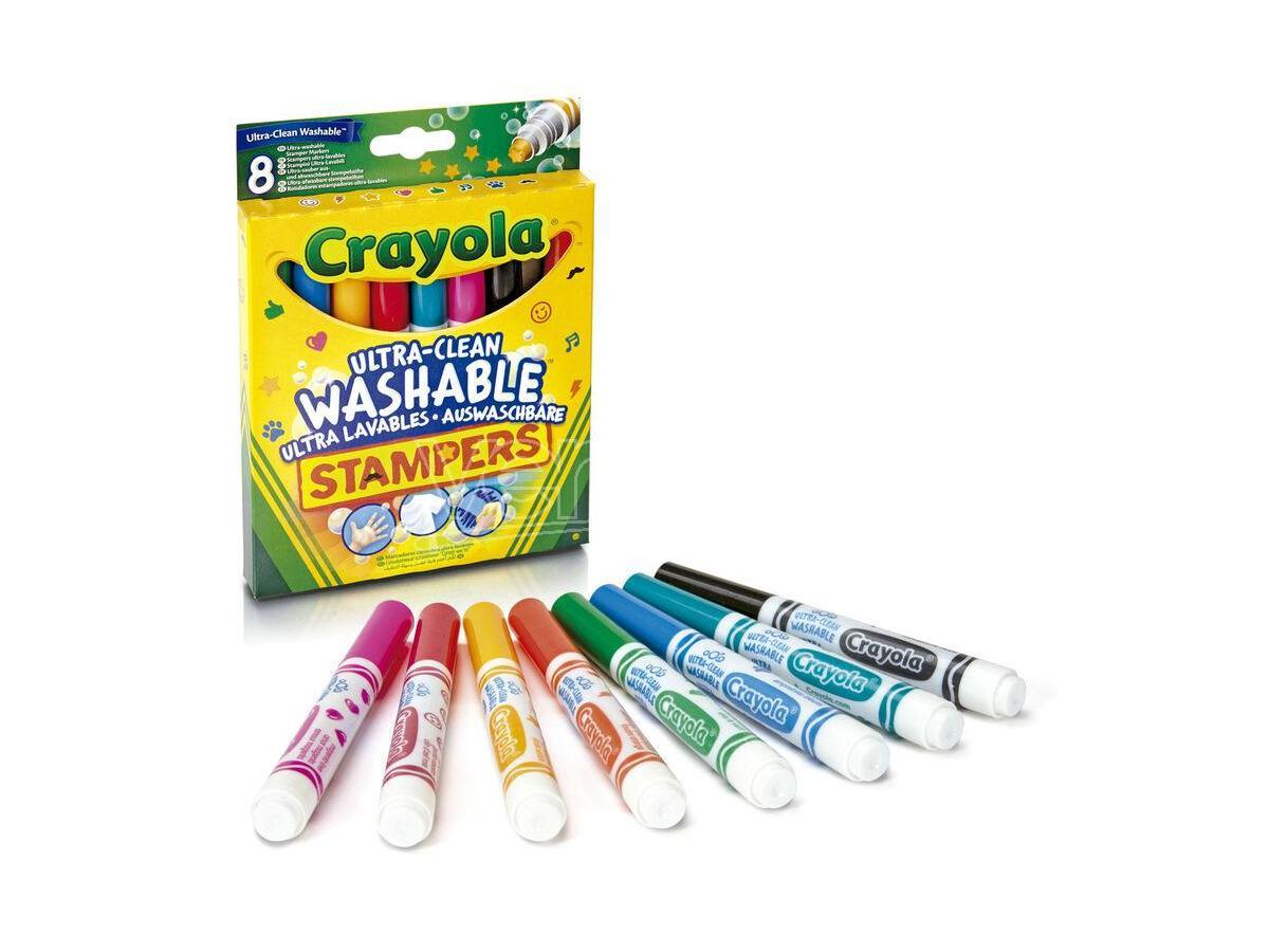 CRAYOLA Set 8 Ultra-Washable Stamper Markers
