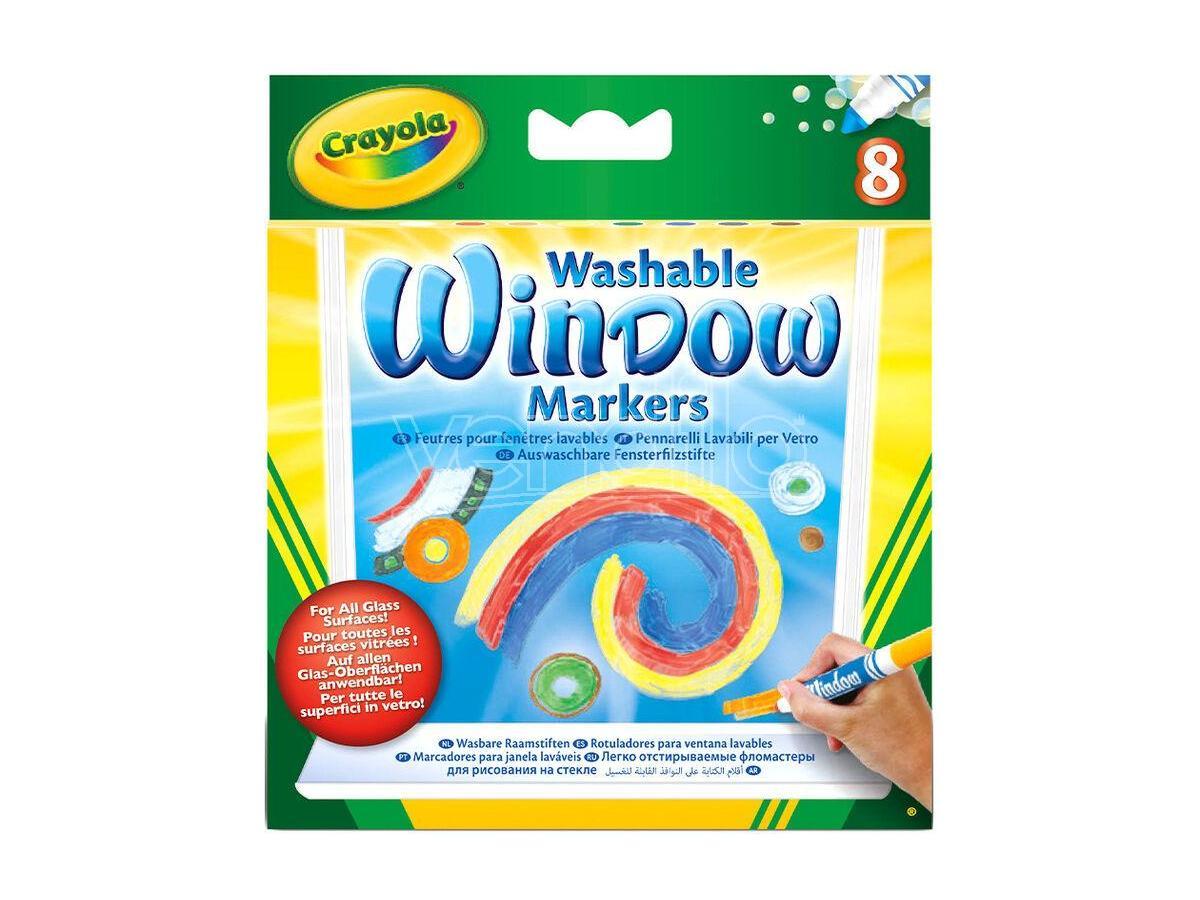 crayola washable window set pennarelli 8