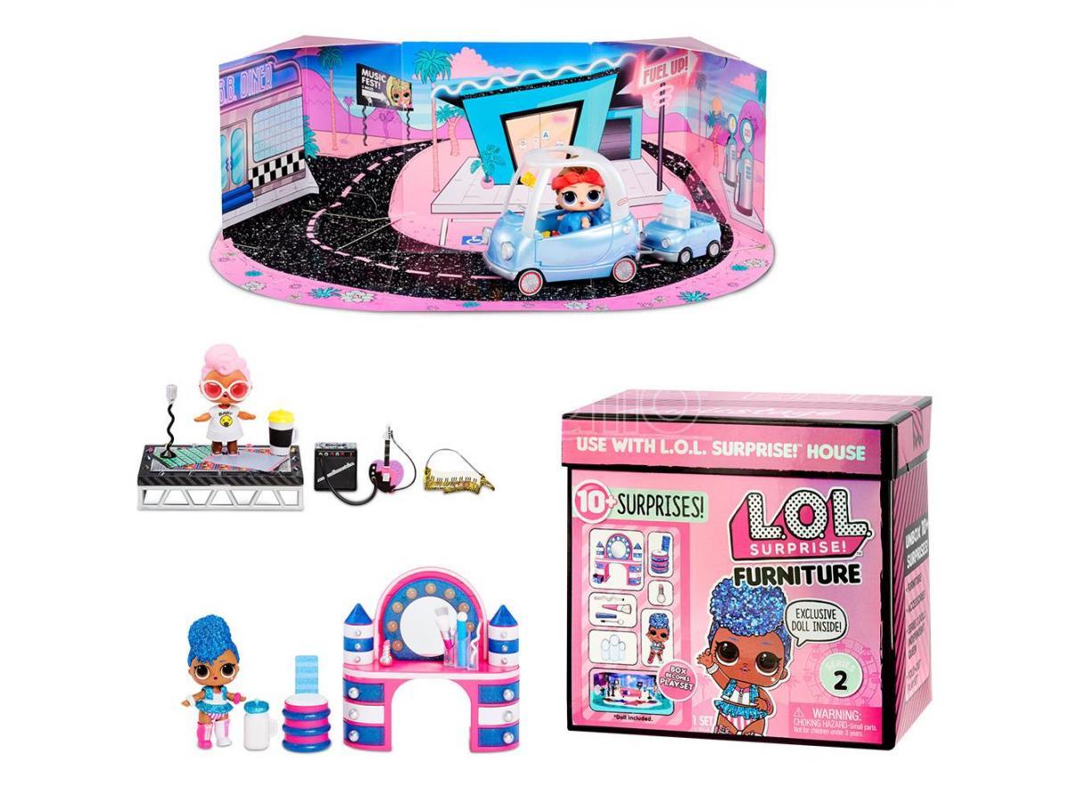 giochi preziosi lol set 4 arredamenti+doll serie 2 bamboline - bambole e accessori