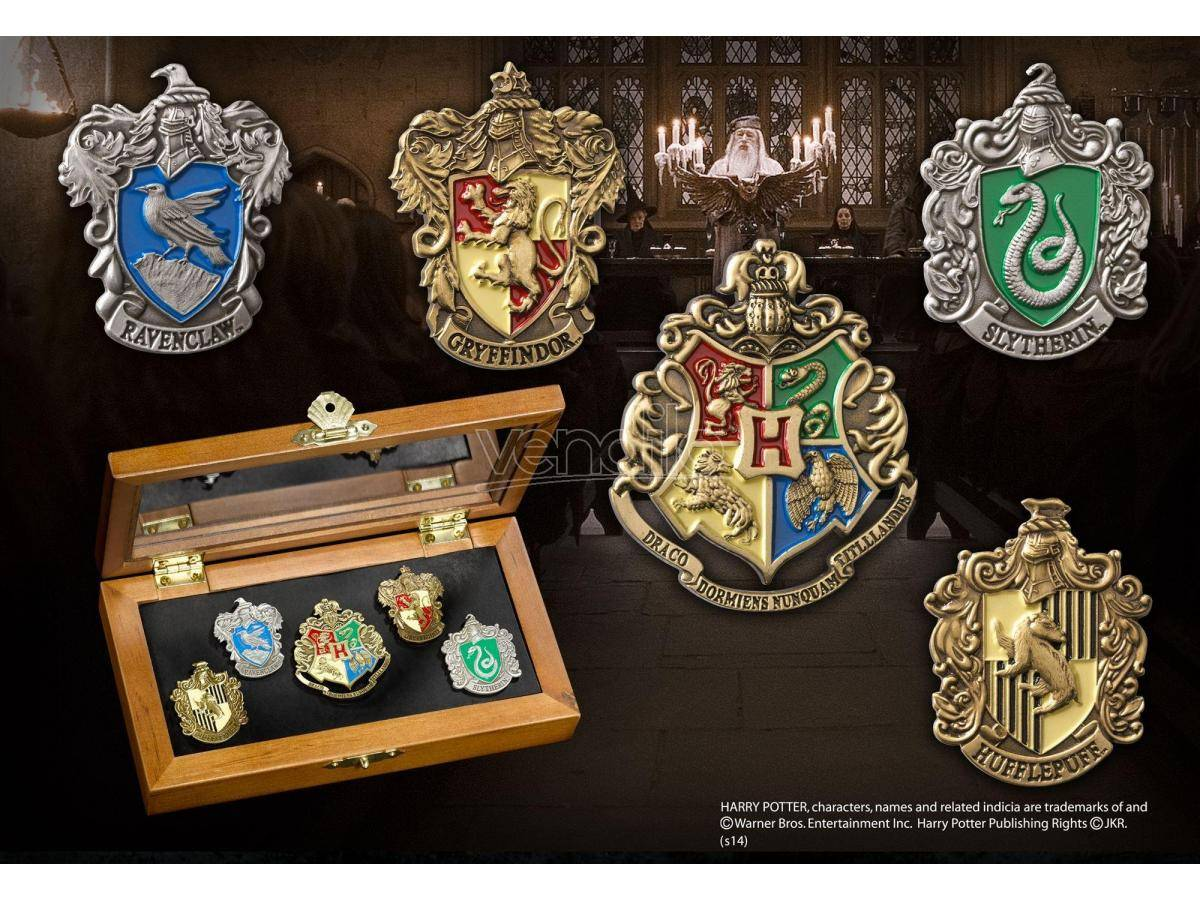 NOBLE COLLECTION Harry Potter Spille Con 5 Stemmi Casate Di Hogwarts