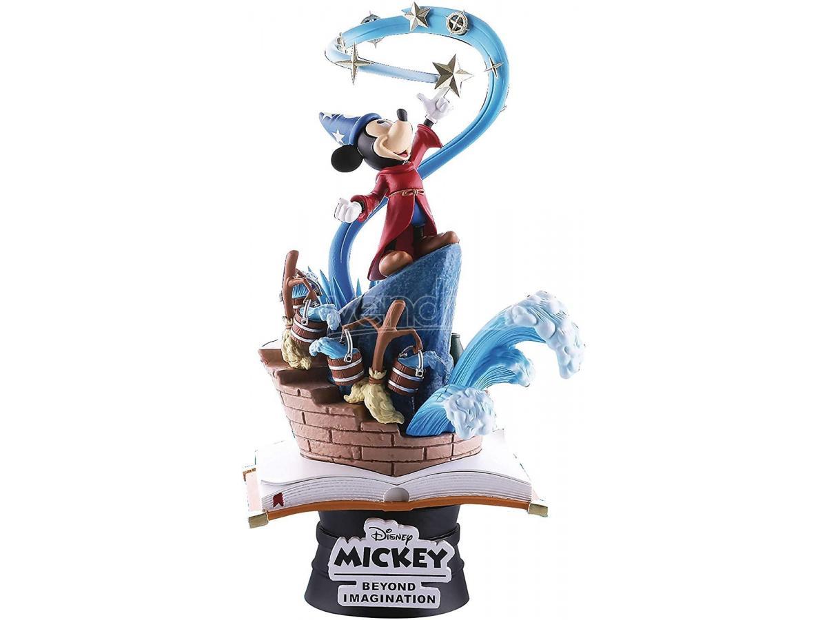 BEAST KINGDOM Mickey Oltre L'Immaginazione Figura L'Apprendista Stregone Diorama