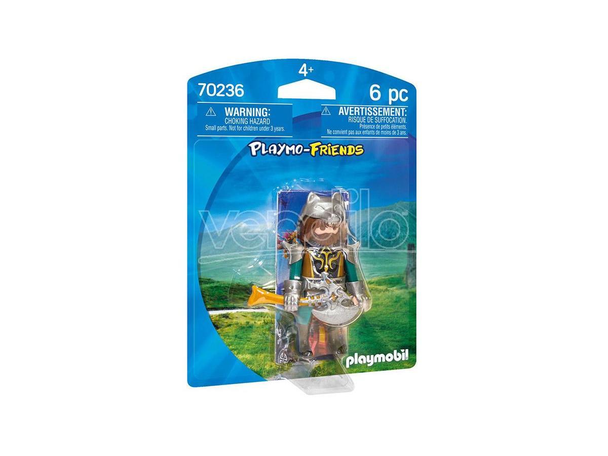 playmobil guerriero lupo playmo-friends - costruzioni