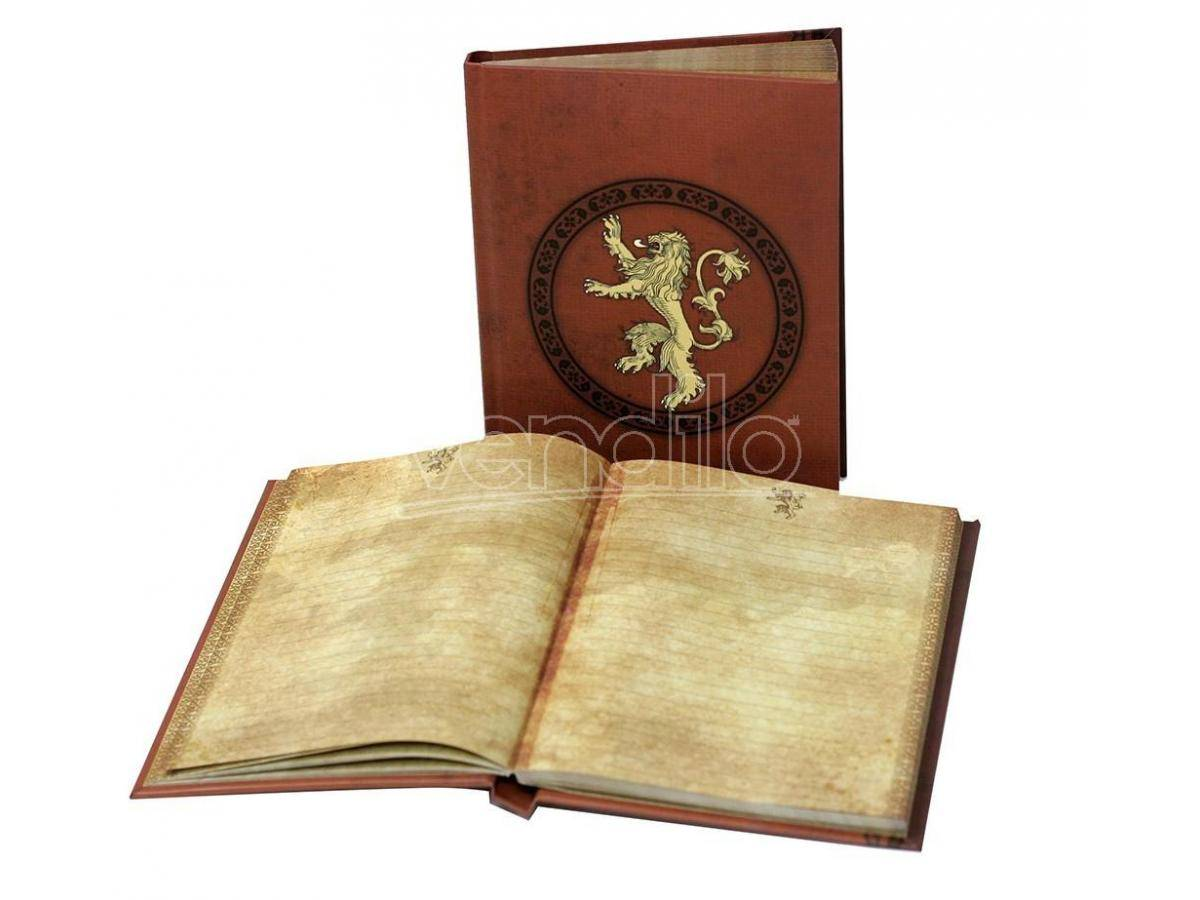 SD TOYS Game Of Thrones Taccuino Lannister Agenda W/ Lt