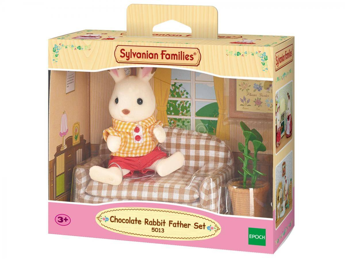 SYLVANIAN FAMILIES Sylvanian Family 5013 - Papà Coniglio Cioccolato E Divano