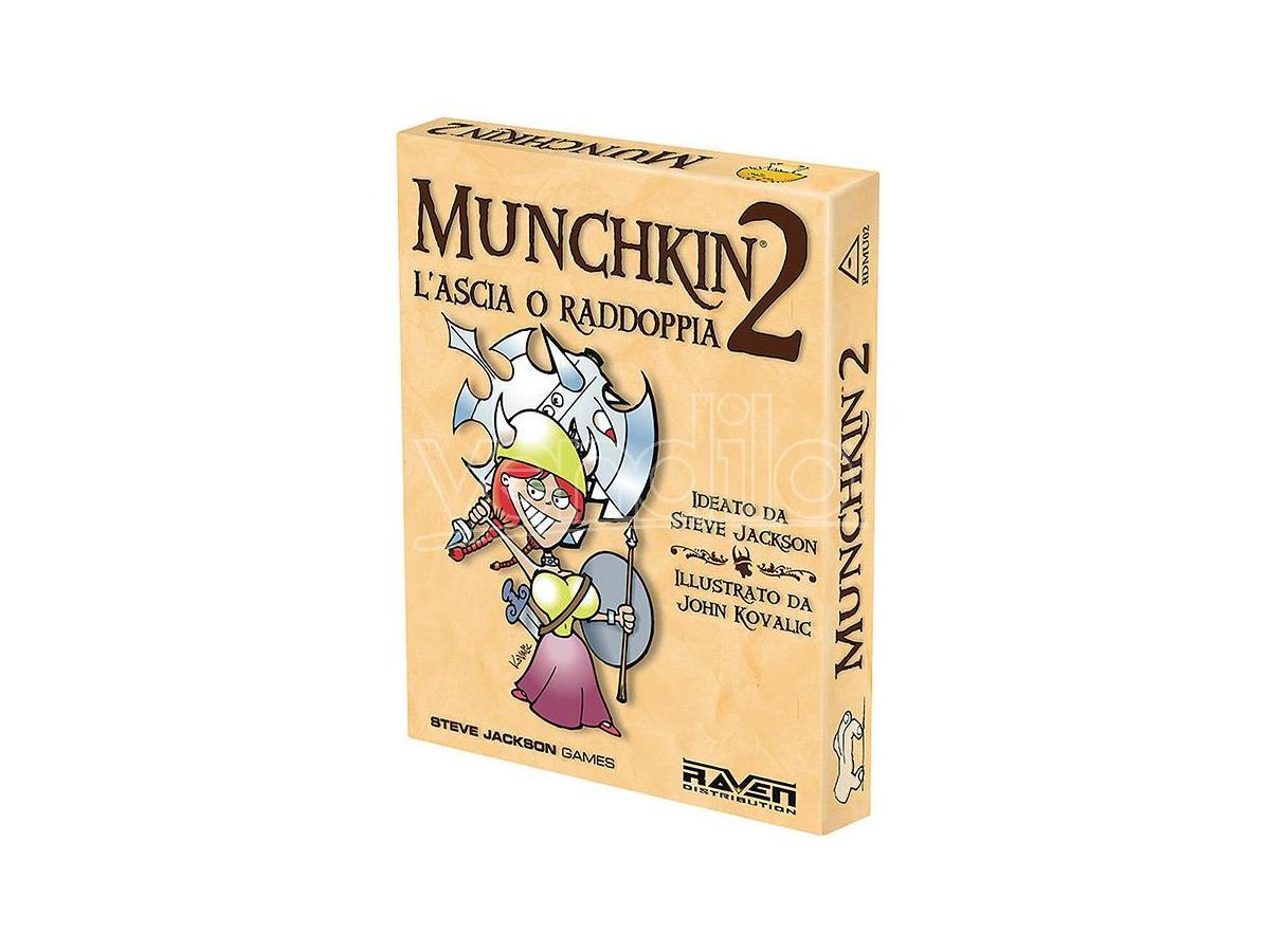raven distribution munchkin 2 - l'ascia o raddoppia giochi da tavolo tavolo/societa'