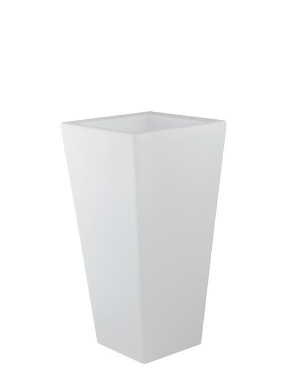 fan europe lighting vaso da giardino led geco bianco 4w 240lm rgbw ip65 con telecomando 38x38x90cm
