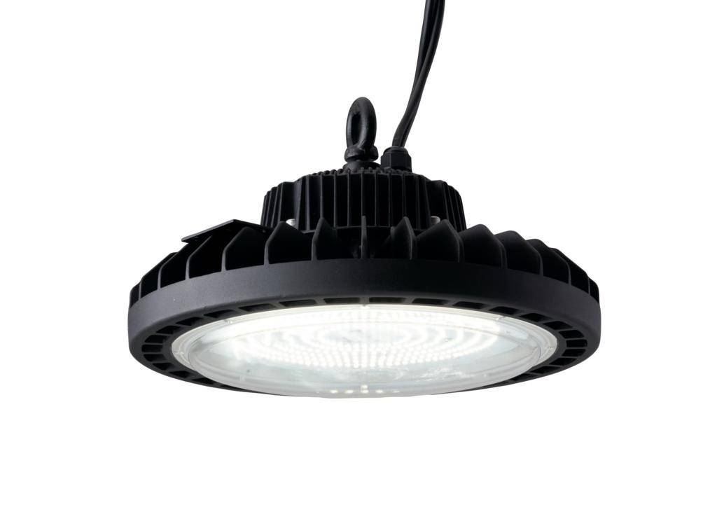 fan europe lighting lampada high-bay led stargate nero 150w 24750lm 4000k ip65 dimmerabile 28x18,8cm