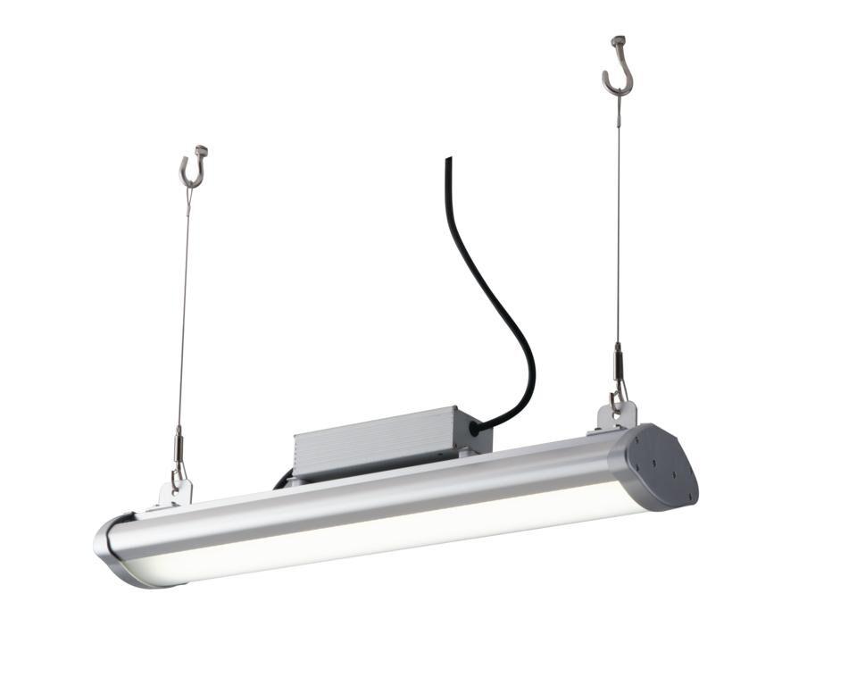 fan europe lighting lampada high-bay led superia silver 150w 22500lm 4000k ip65 90,5x13,5x7,2cm