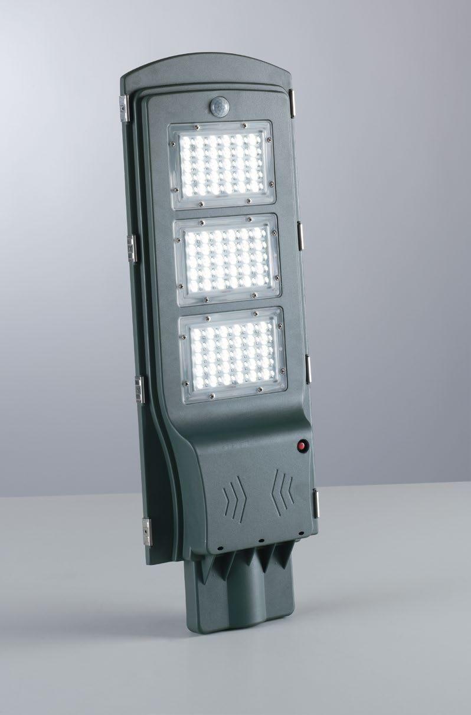 fan europe lighting stradale led motion antracite 7w 510lm 6000k ip65 con sensore,pan.solare e telecomando 63,5x26x4,5cm