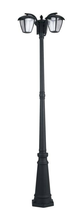 Fan Europe Lighting Palo Led Lady Nero 3xgx53 9w 3x680lm 4000k Ip44 204x70cm