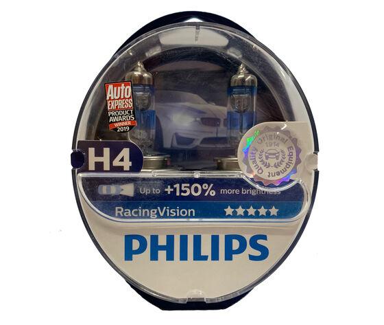 Philips Kit Lampade  H4 +150%