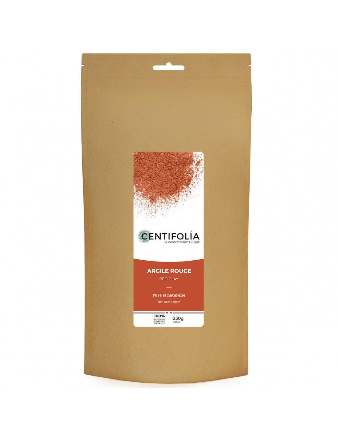 Centifolia Argilla Rossa Ultra Ventilata da 250g per Viso e Capelli, Centifolia
