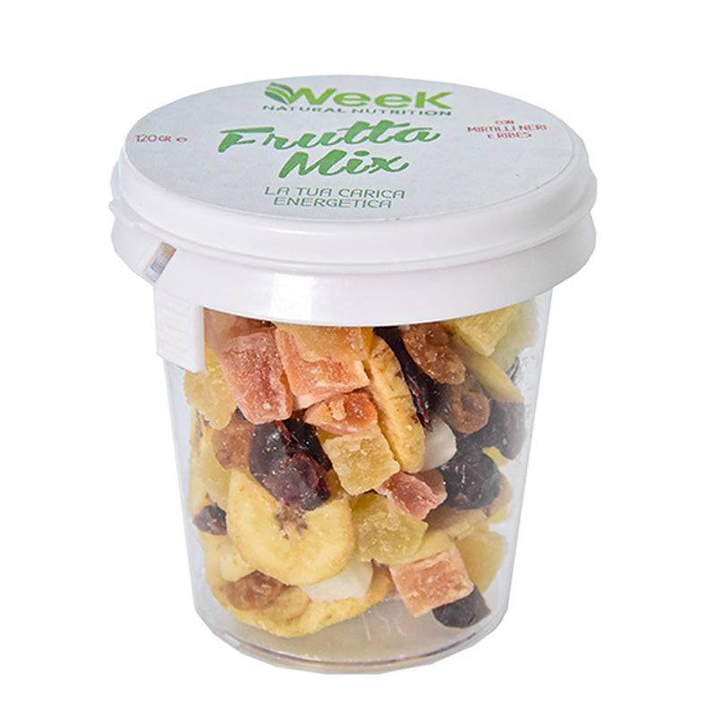 Week Natural Nutrition Snack Frutta Mix a base di Frutta Secca da 120g, Week Natural Nutrition