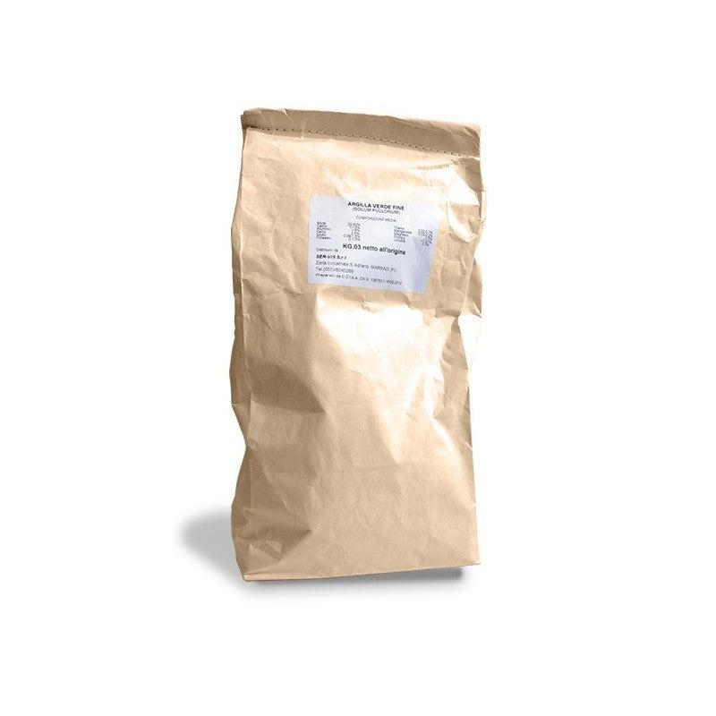 dr giorgini argilla verde fine in polvere da 3kg per tutti i tipi di pelle e capelli, dr giorgini