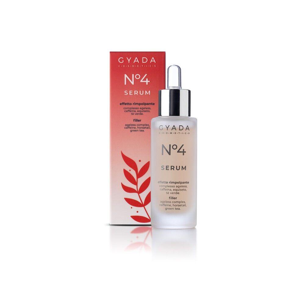 gyada cosmetics siero viso n.4 ad effetto rimpolpante con acido ialuronico e caffeina da 30ml per pelle matura, gyada cosmetics