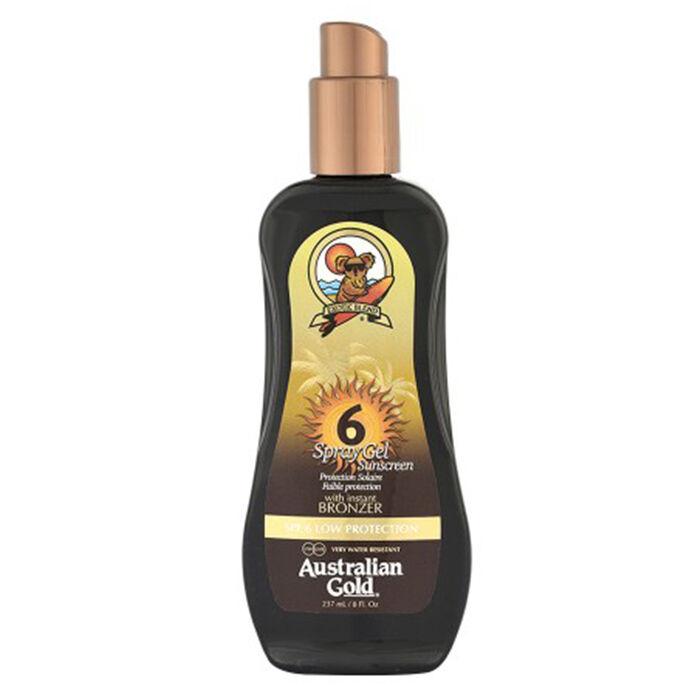 Australian Gold Spf 6 Spray Gel Sunscreen Bronzer 237 Ml / 7.00 Fl.Oz