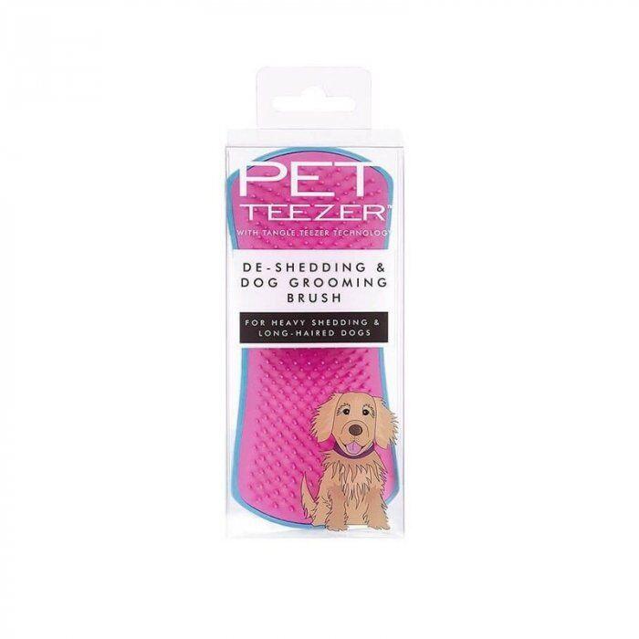 Tangle Teezer Pet Teezer De Shedding Dog Grooming Brush Blue/pink - Spazzola Per Cani