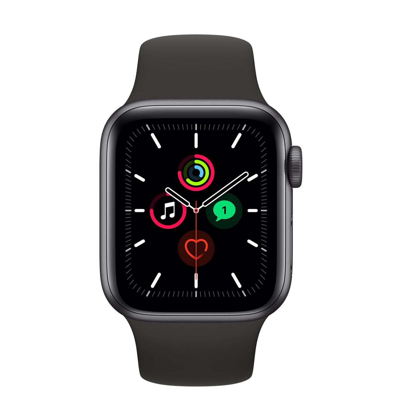 apple watch apple watch se gps 40mm grey aluminum case with sport band black