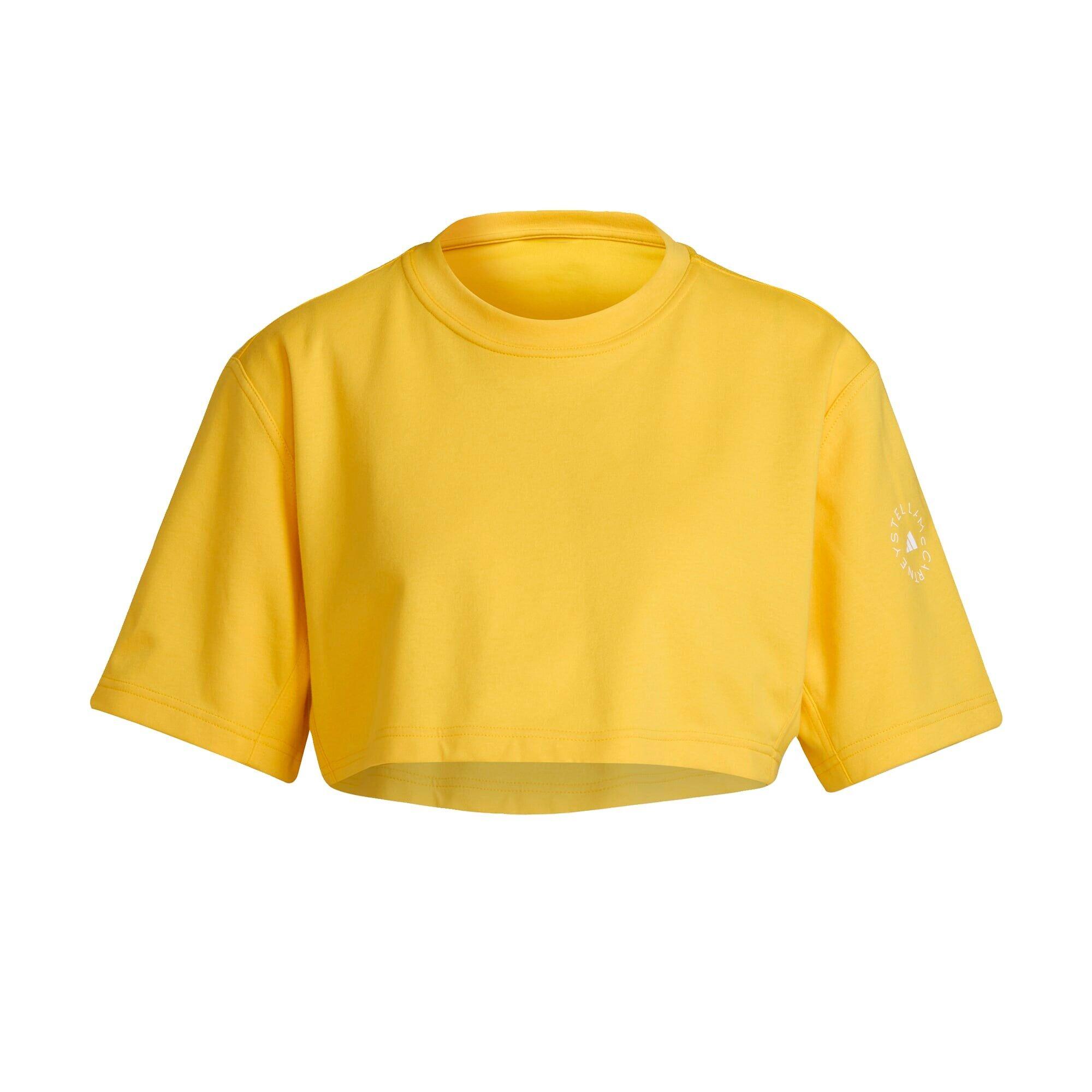 adidas by stella mccartney maglia funzionale giallo