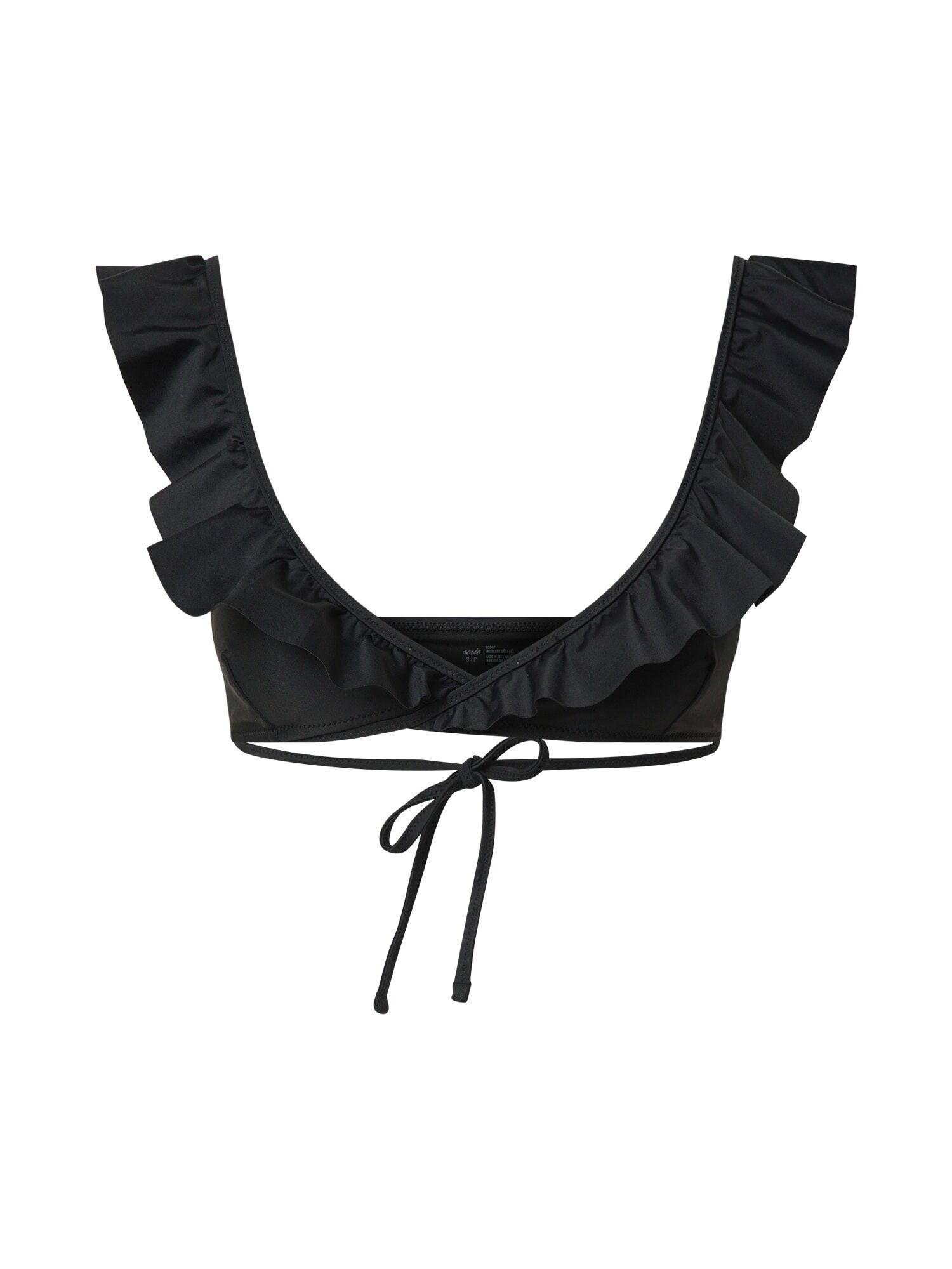 AERIE Top per bikini 'Scoop' Nero