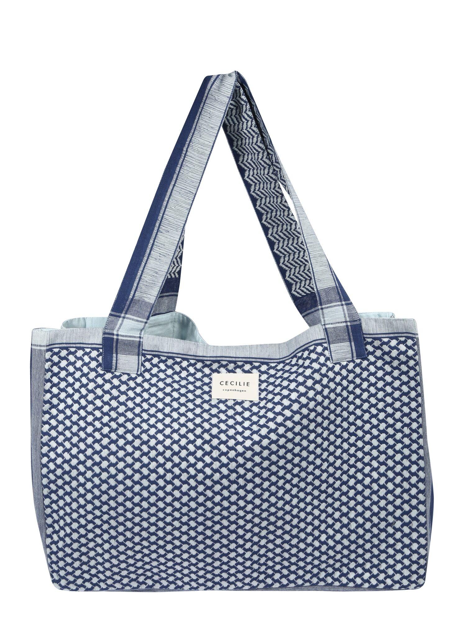 cecilie copenhagen shopper 'bag large signature' blu