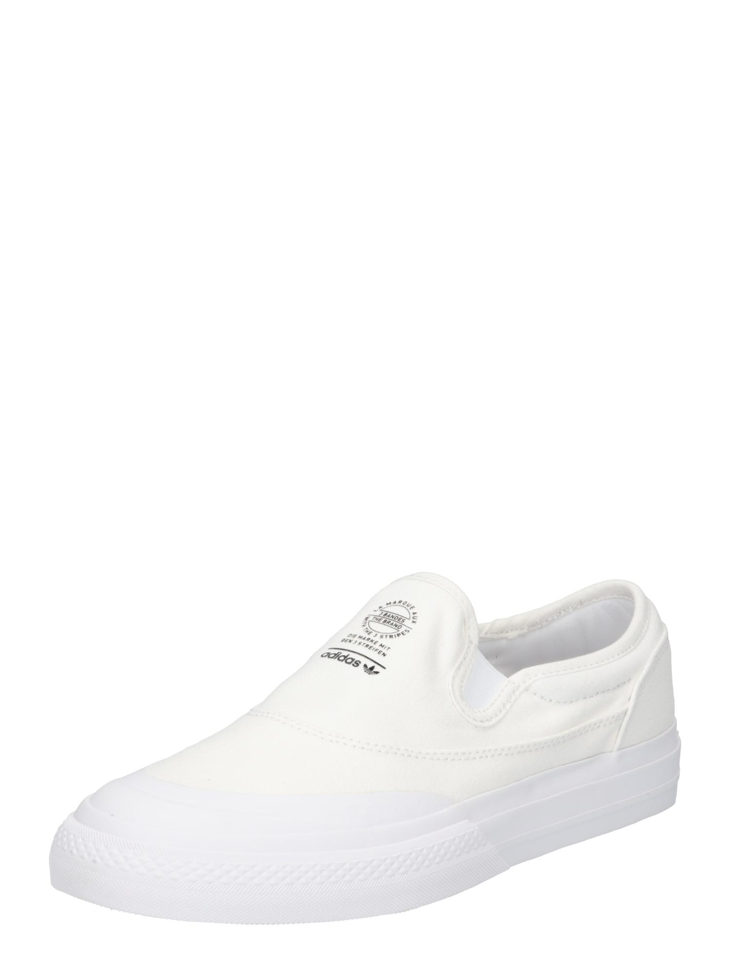 adidas originals scarpa slip-on 'nizza' bianco