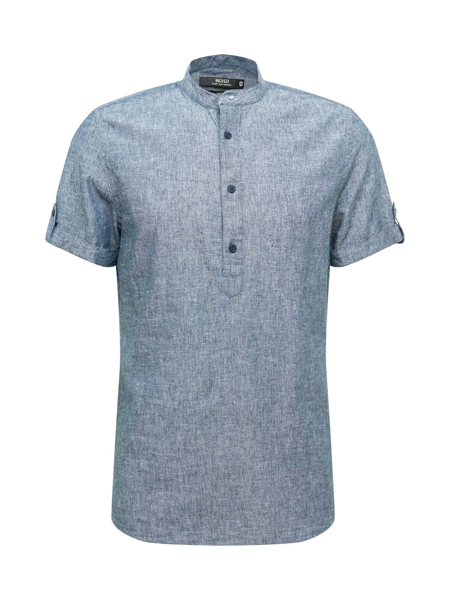 INDICODE JEANS Camicia 'Mao' Blu