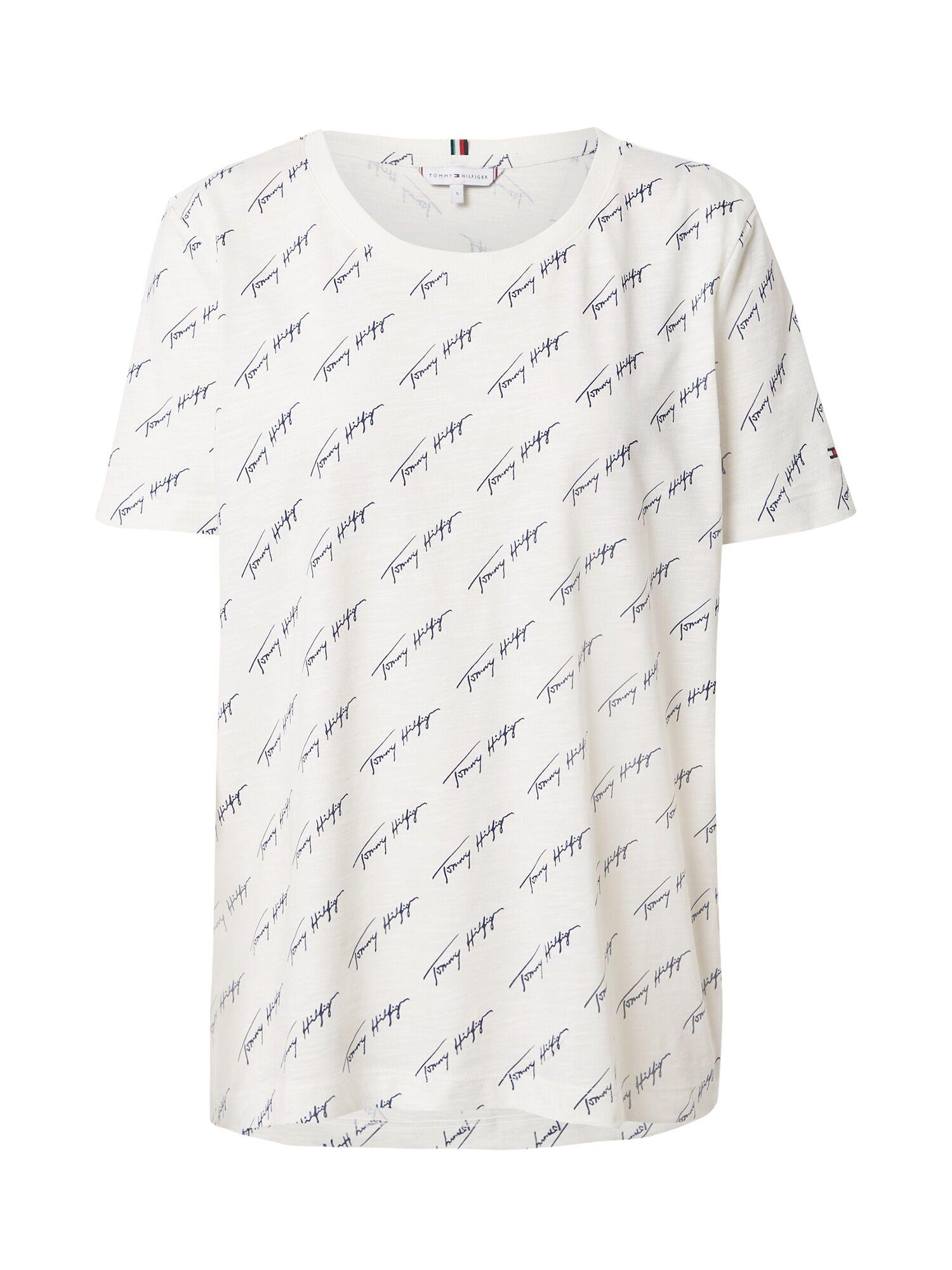 tommy hilfiger maglietta ' x about you aop script print t-shirt' beige