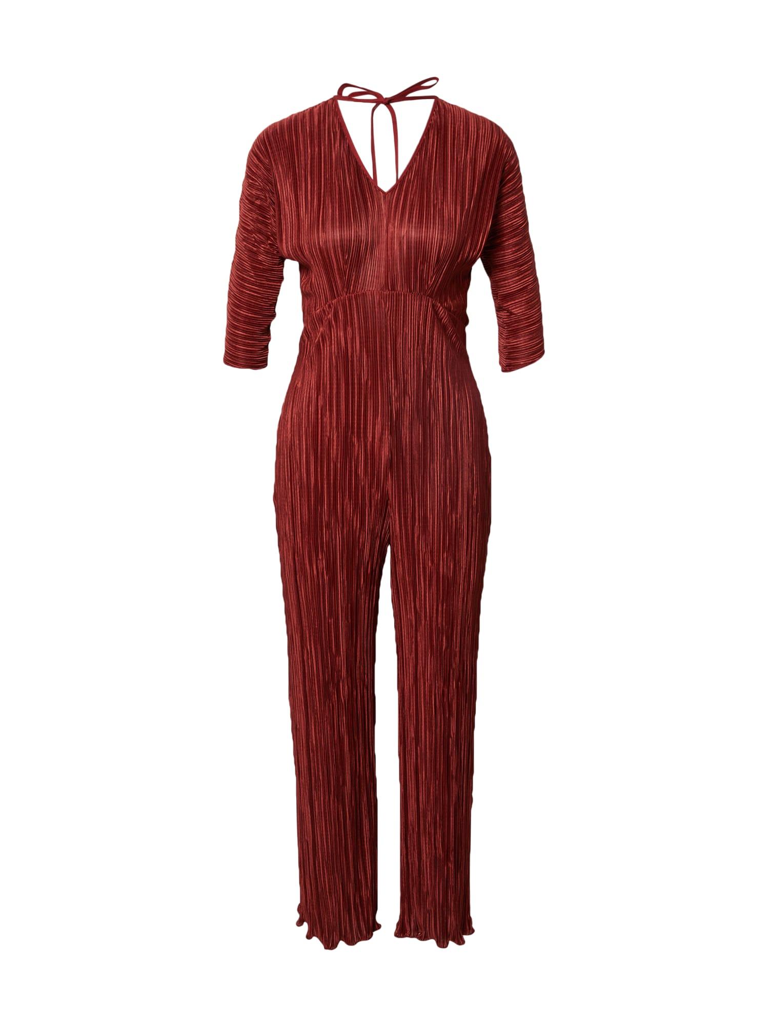 closet london tuta jumpsuit rosso