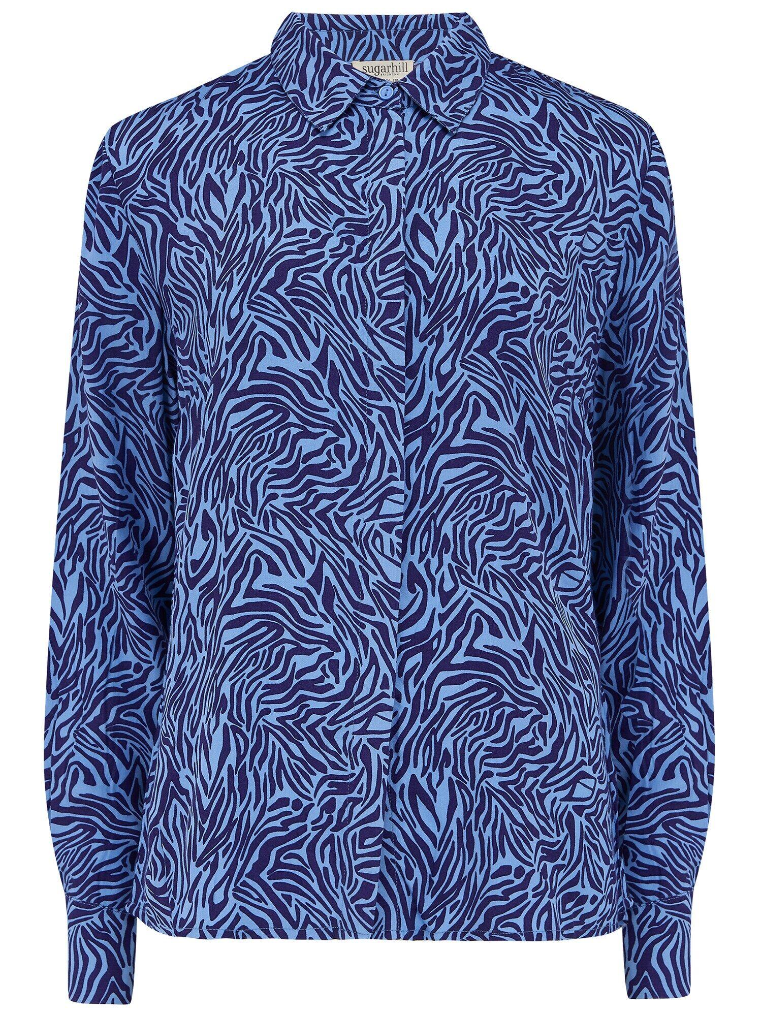 sugarhill brighton camicia da donna 'joy poolside' blu