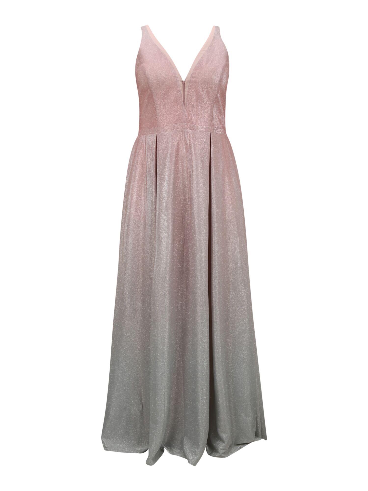 my mascara curves abito da sera rosa, argento