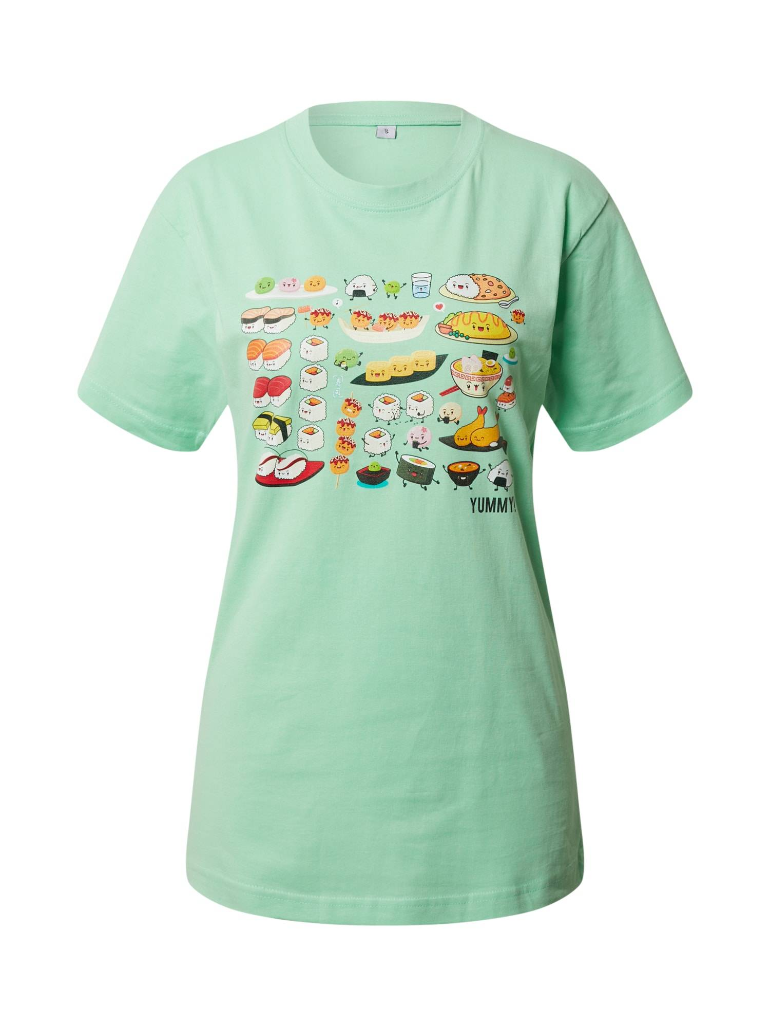 Merchcode Maglietta 'Pick A Sushi' Verde