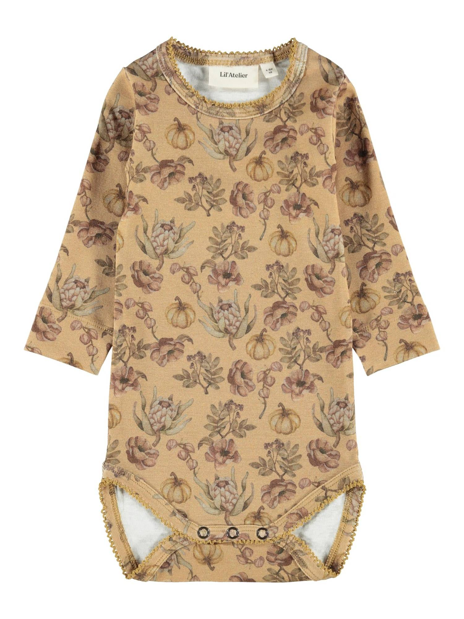 lil ' atelier kids tutina / body per bambino 'gaya' marrone