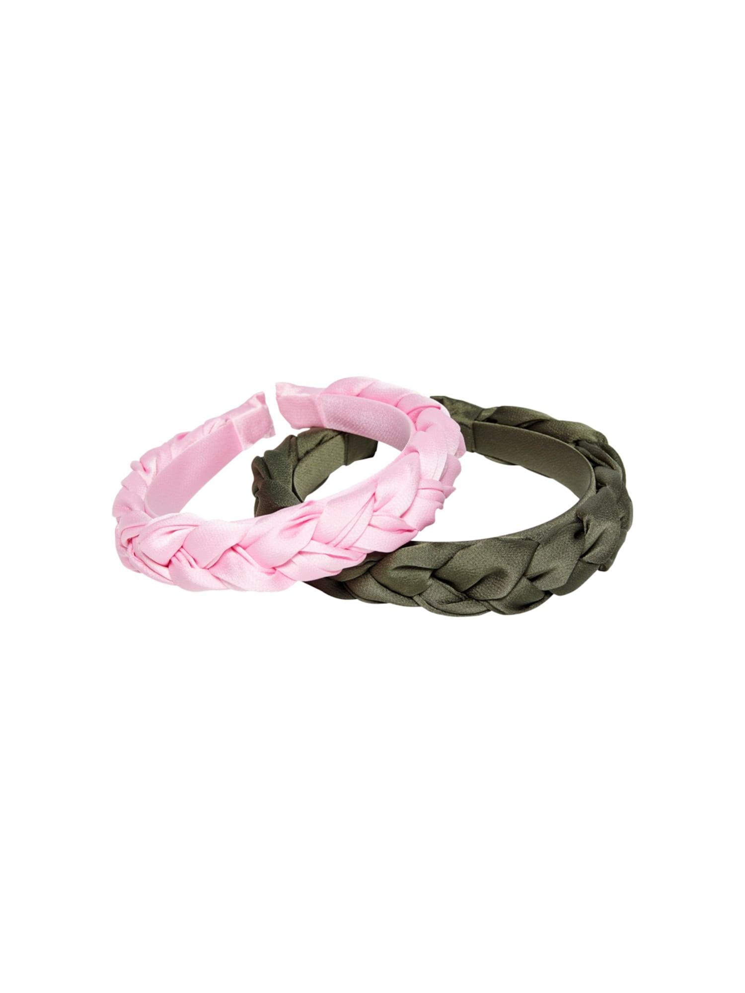 only ornamento per i capelli 'alba' verde, rosa