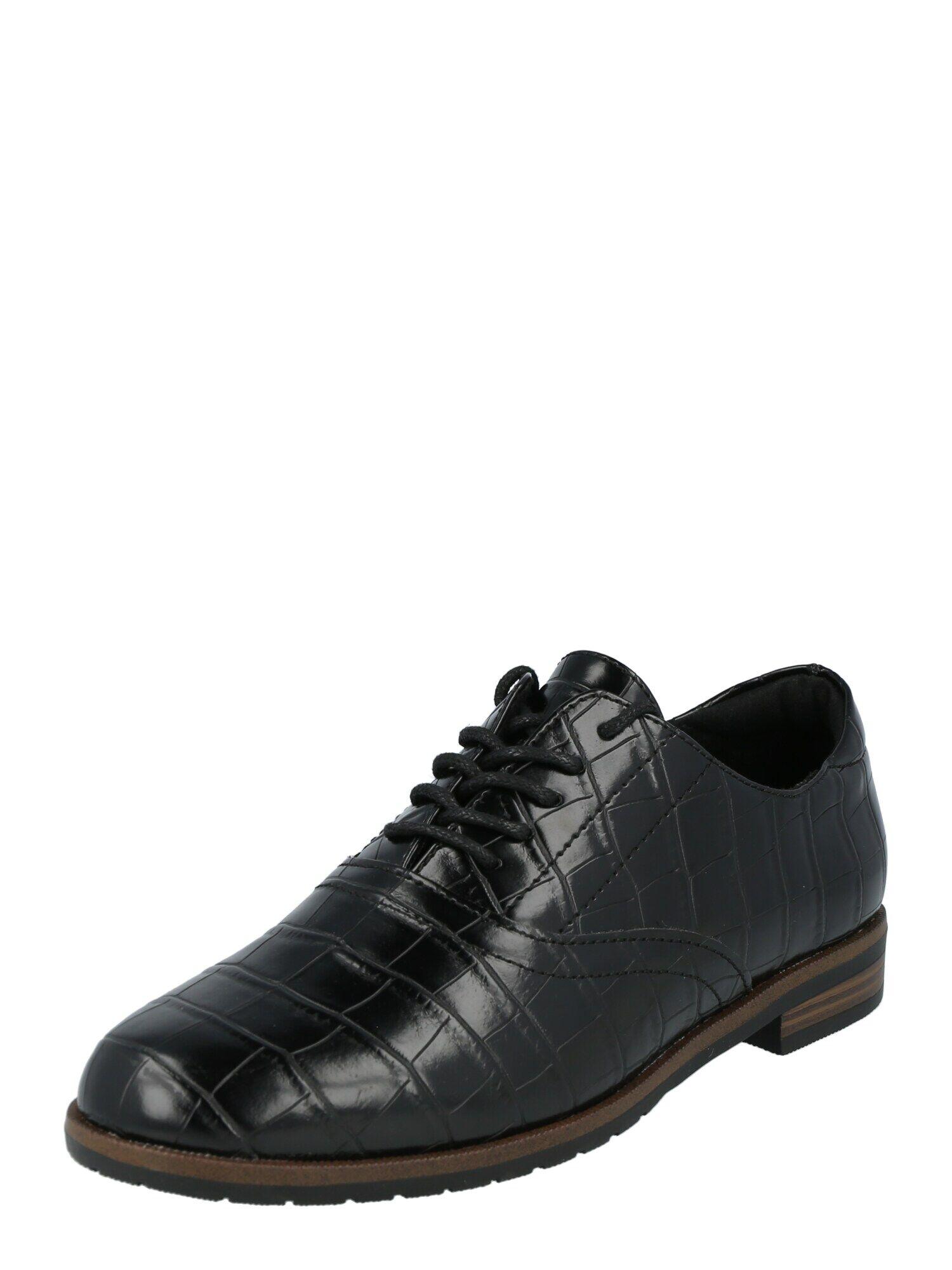 vero moda scarpa stringata 'lidia' nero