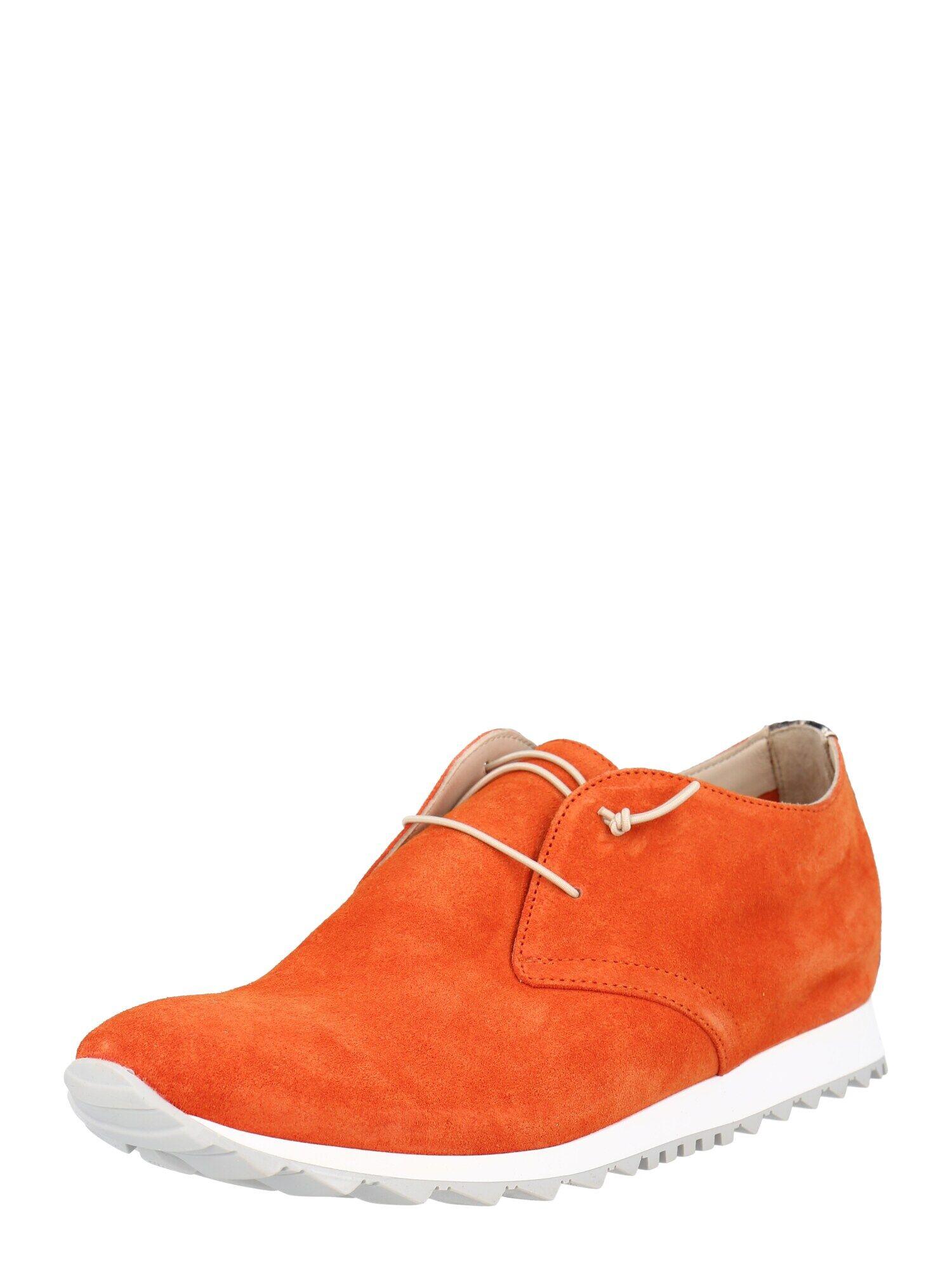 donna carolina scarpa stringata arancione